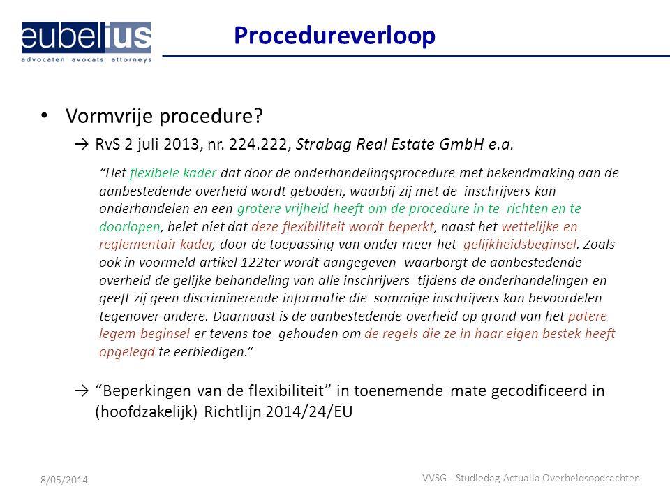 Procedureverloop Vormvrije procedure