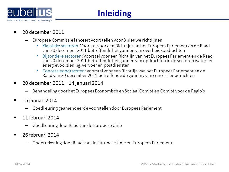 Inleiding 20 december 2011 20 december 2011 – 14 januari 2014