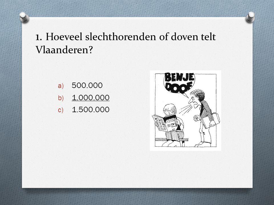 1. Hoeveel slechthorenden of doven telt Vlaanderen