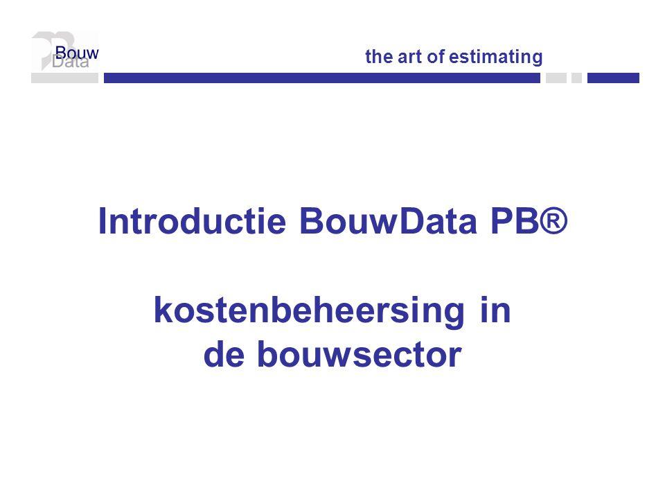 Introductie BouwData PB® kostenbeheersing in de bouwsector