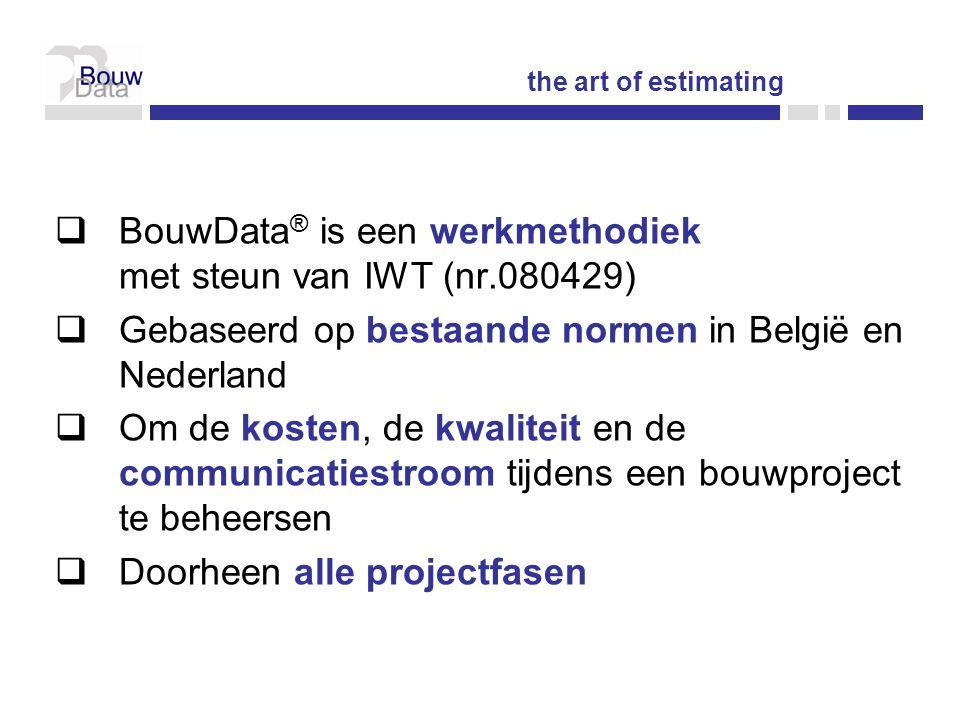 BouwData® is een werkmethodiek met steun van IWT (nr.080429)