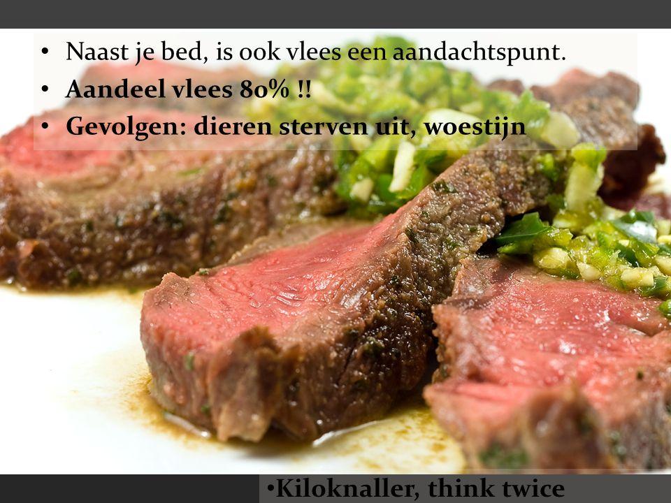 Naast je bed, is ook vlees een aandachtspunt.