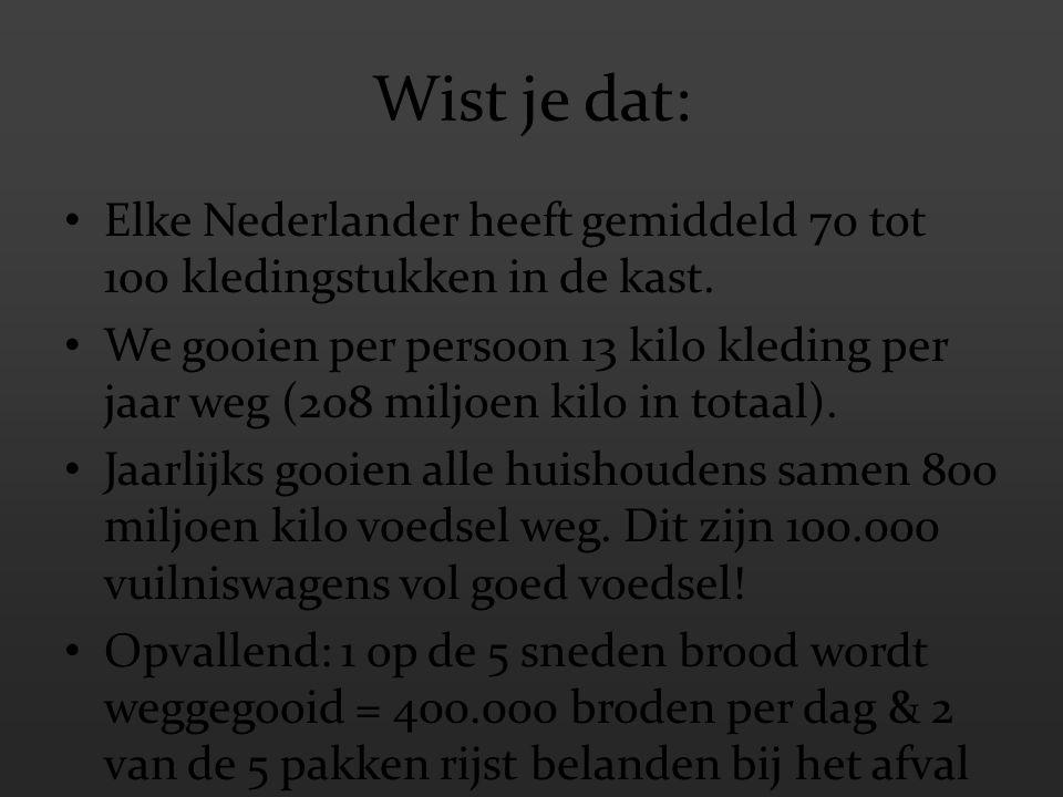 Wist je dat: Elke Nederlander heeft gemiddeld 70 tot 100 kledingstukken in de kast.