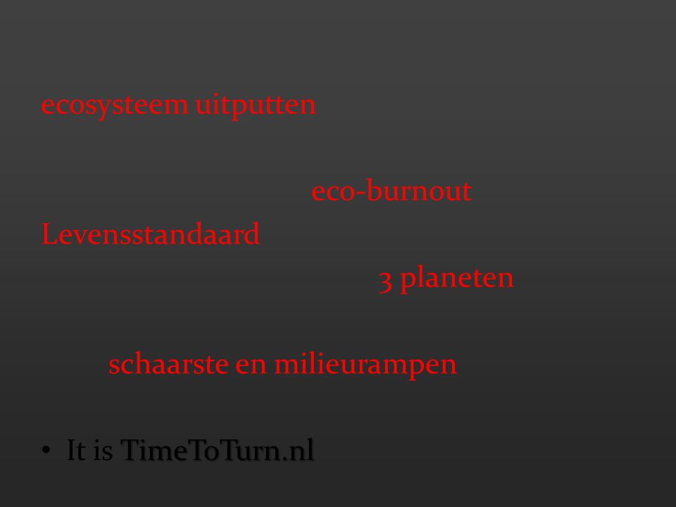 ecosysteem uitputten eco-burnout. Levensstandaard.