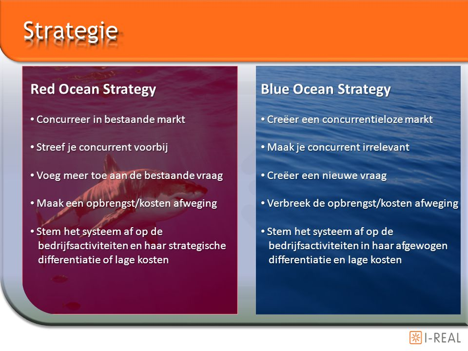 Strategie Red Ocean Strategy Blue Ocean Strategy