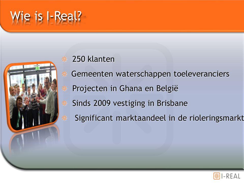 Wie is I-Real 250 klanten Gemeenten waterschappen toeleveranciers