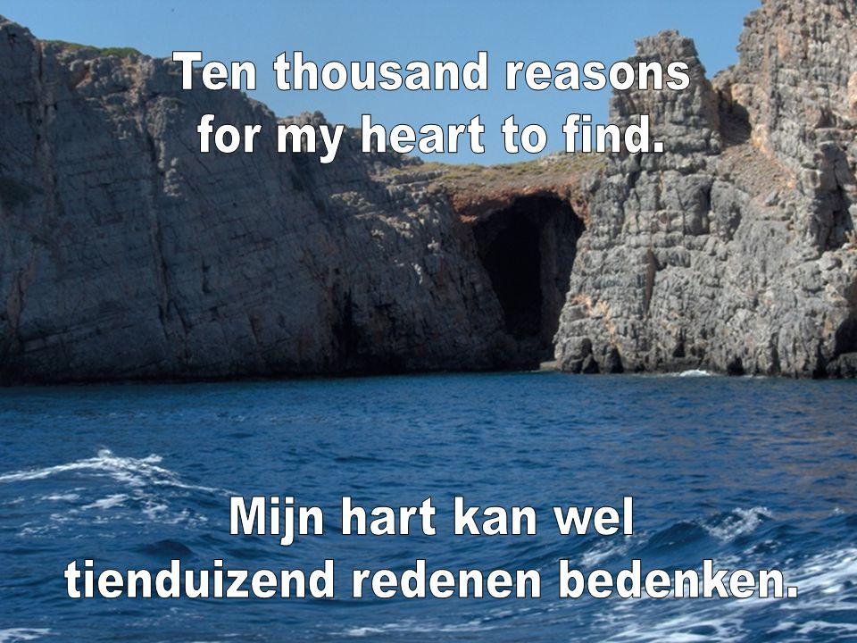 tienduizend redenen bedenken.
