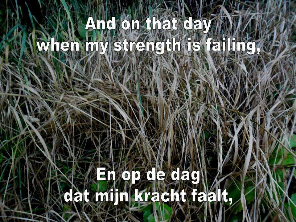 when my strength is failing,