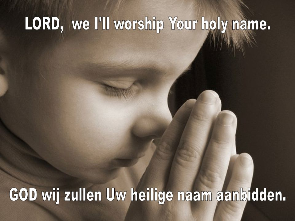 LORD, we I ll worship Your holy name.