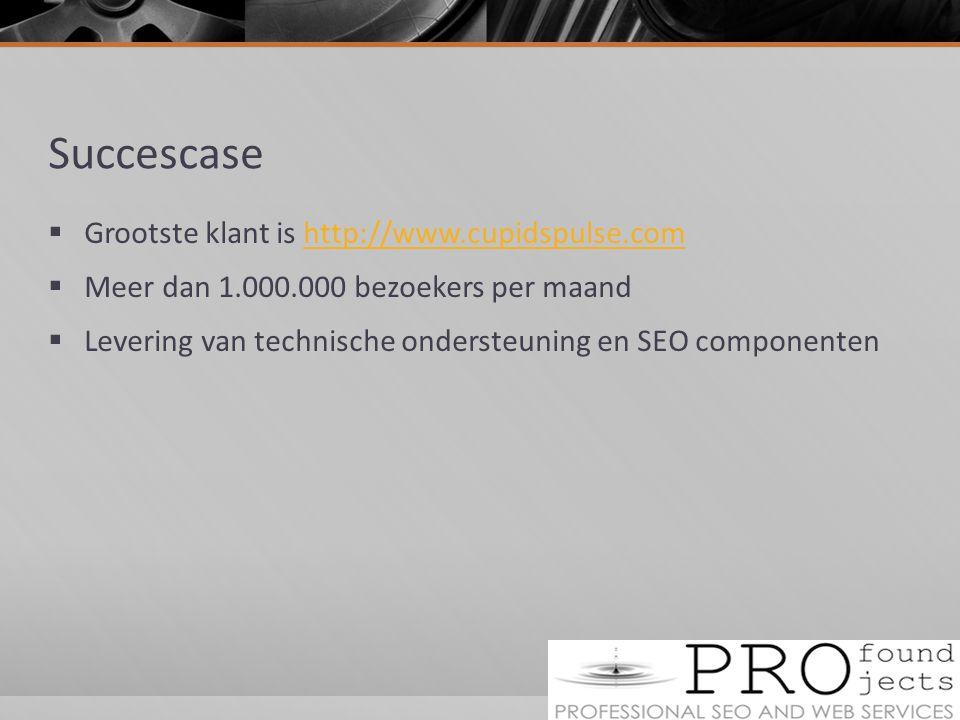Succescase Grootste klant is http://www.cupidspulse.com