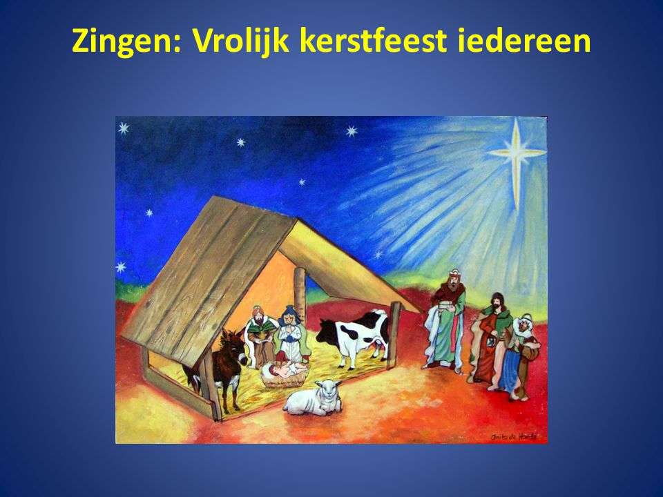 Zingen: Vrolijk kerstfeest iedereen