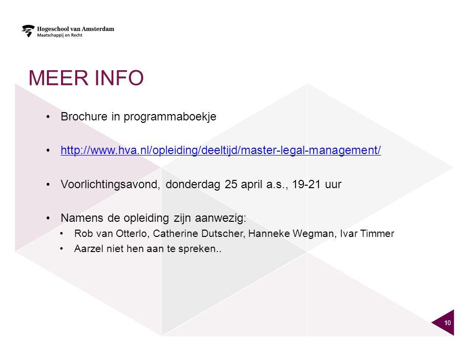 Meer info Brochure in programmaboekje