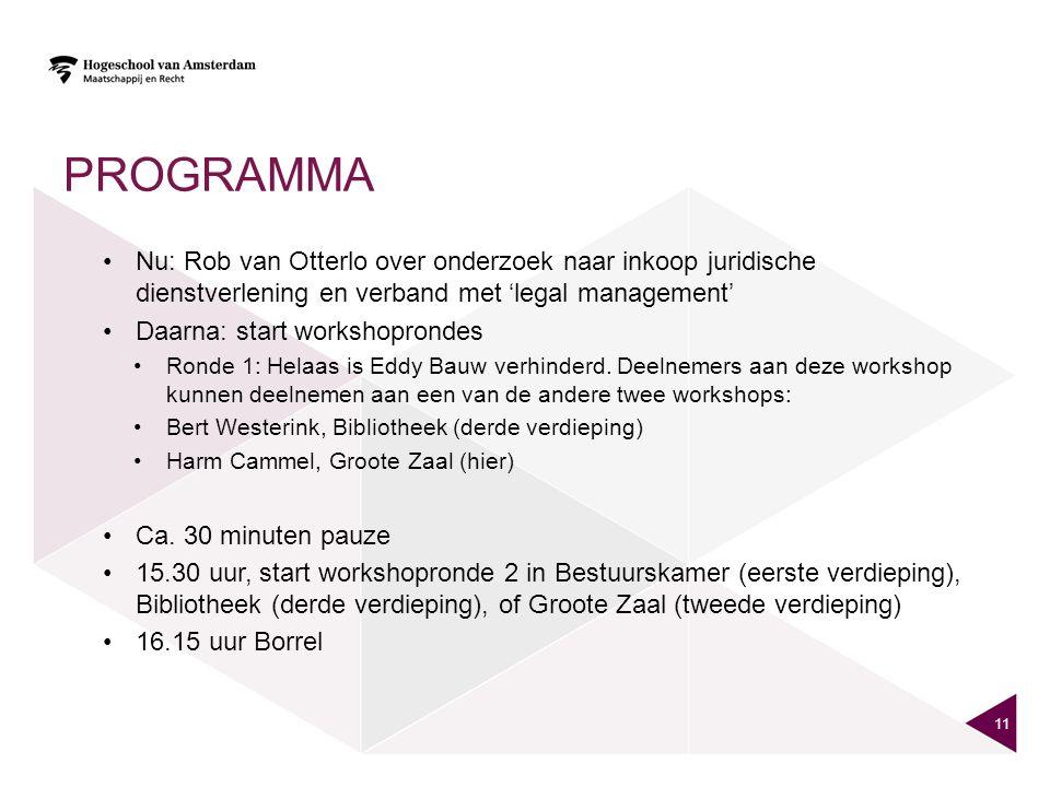 Programma Nu: Rob van Otterlo over onderzoek naar inkoop juridische dienstverlening en verband met 'legal management'