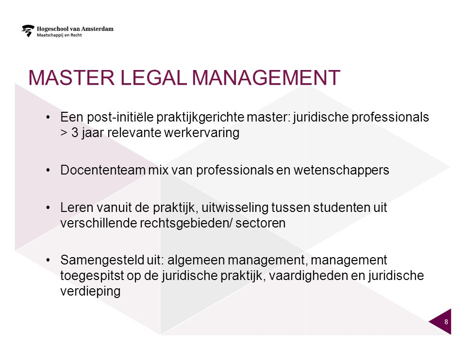 Master legal management