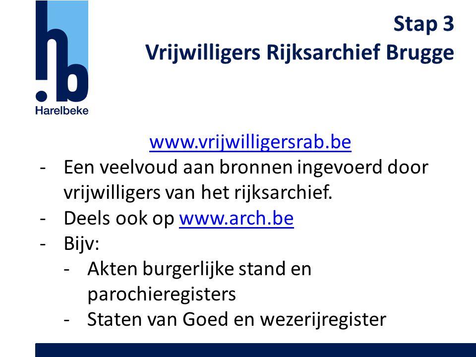 Vrijwilligers Rijksarchief Brugge