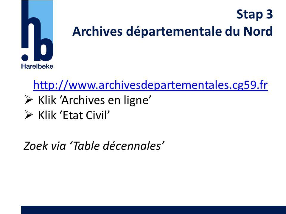 Archives départementale du Nord