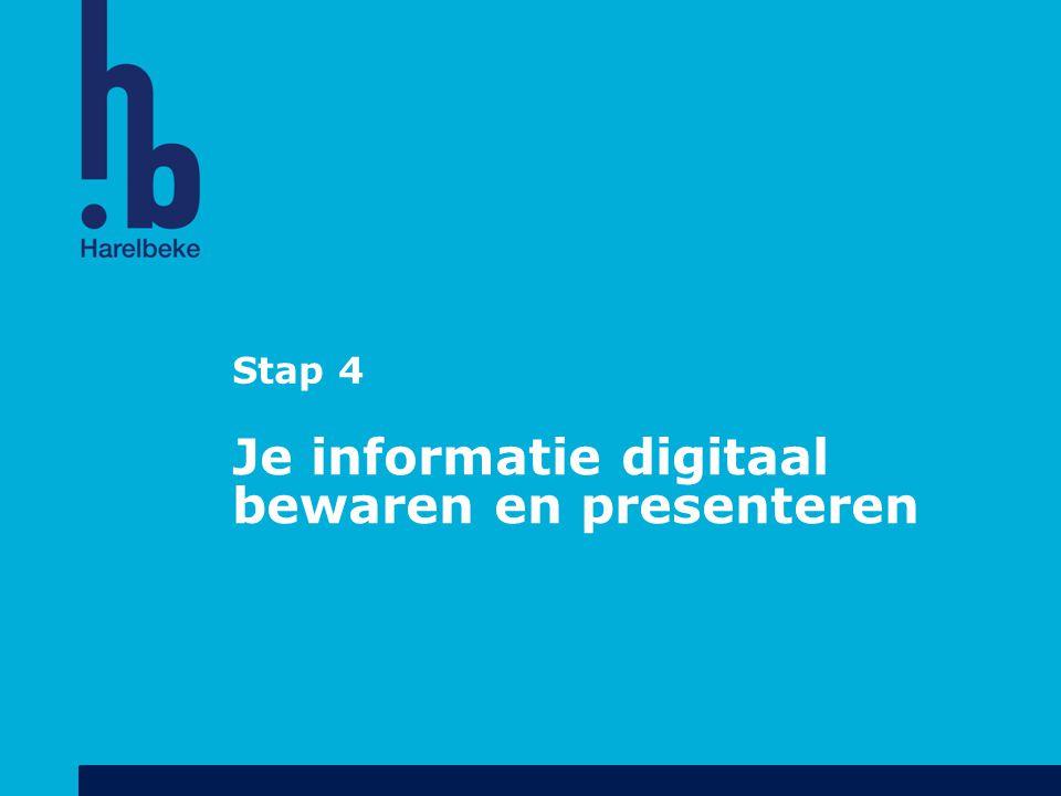 Je informatie digitaal bewaren en presenteren