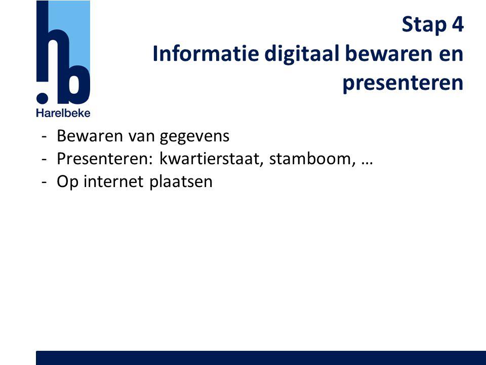 Informatie digitaal bewaren en presenteren