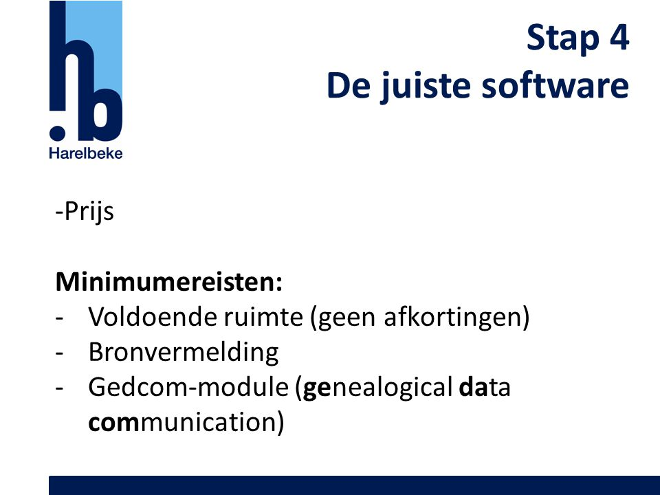Stap 4 De juiste software -Prijs Minimumereisten: