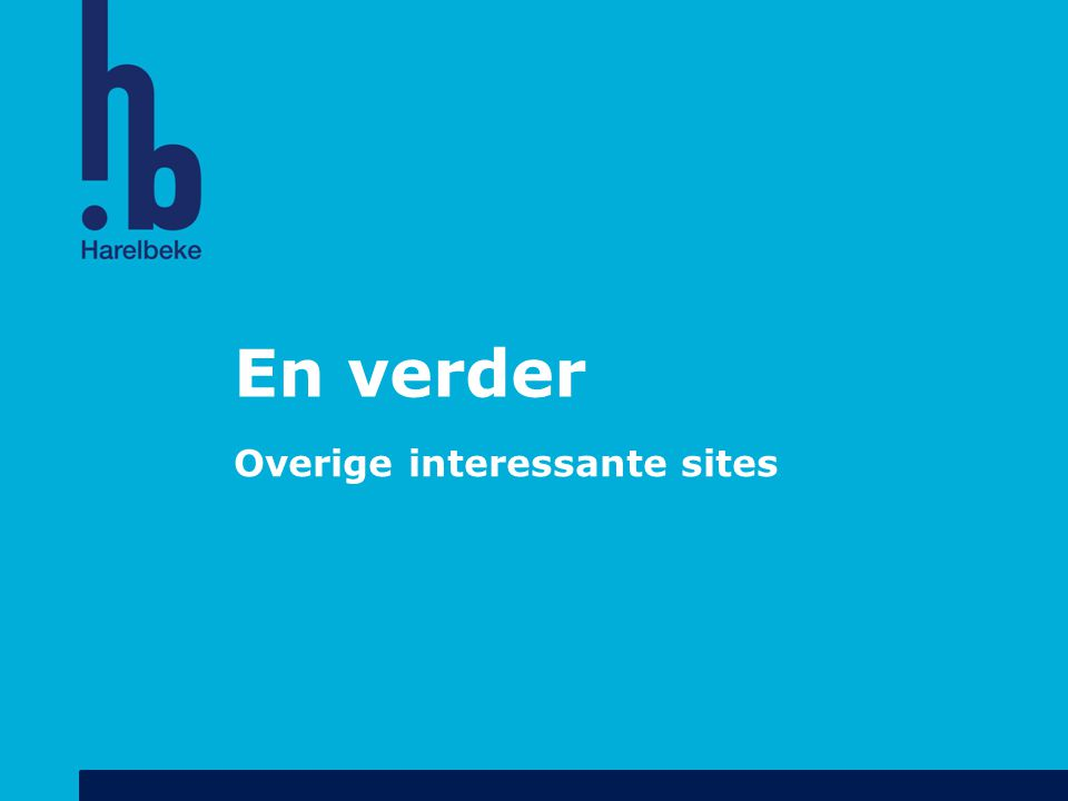 Overige interessante sites