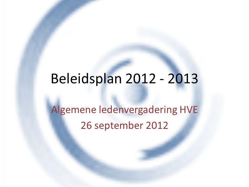 Algemene ledenvergadering HVE 26 september 2012
