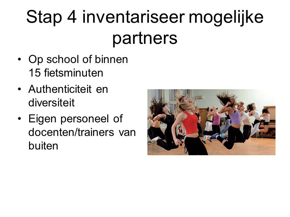 Stap 4 inventariseer mogelijke partners