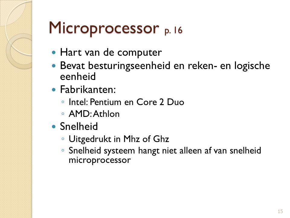 Microprocessor p. 16 Hart van de computer
