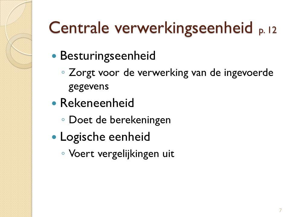 Centrale verwerkingseenheid p. 12