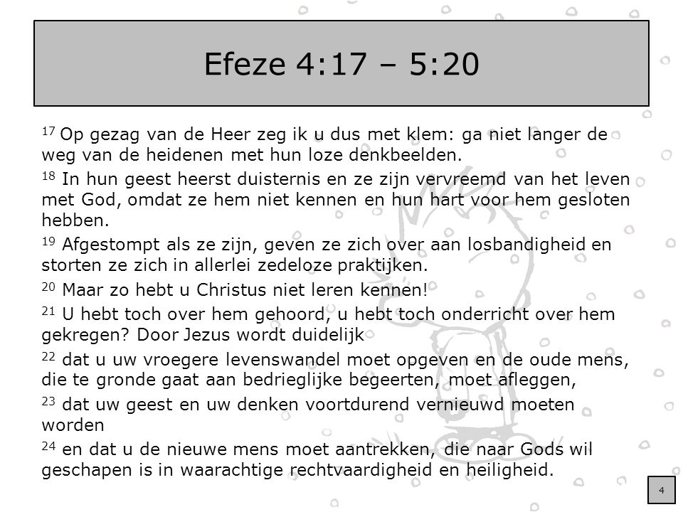 Efeze 4:17 – 5:20