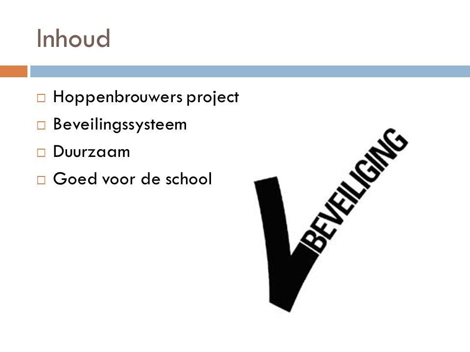 Inhoud Hoppenbrouwers project Beveilingssysteem Duurzaam