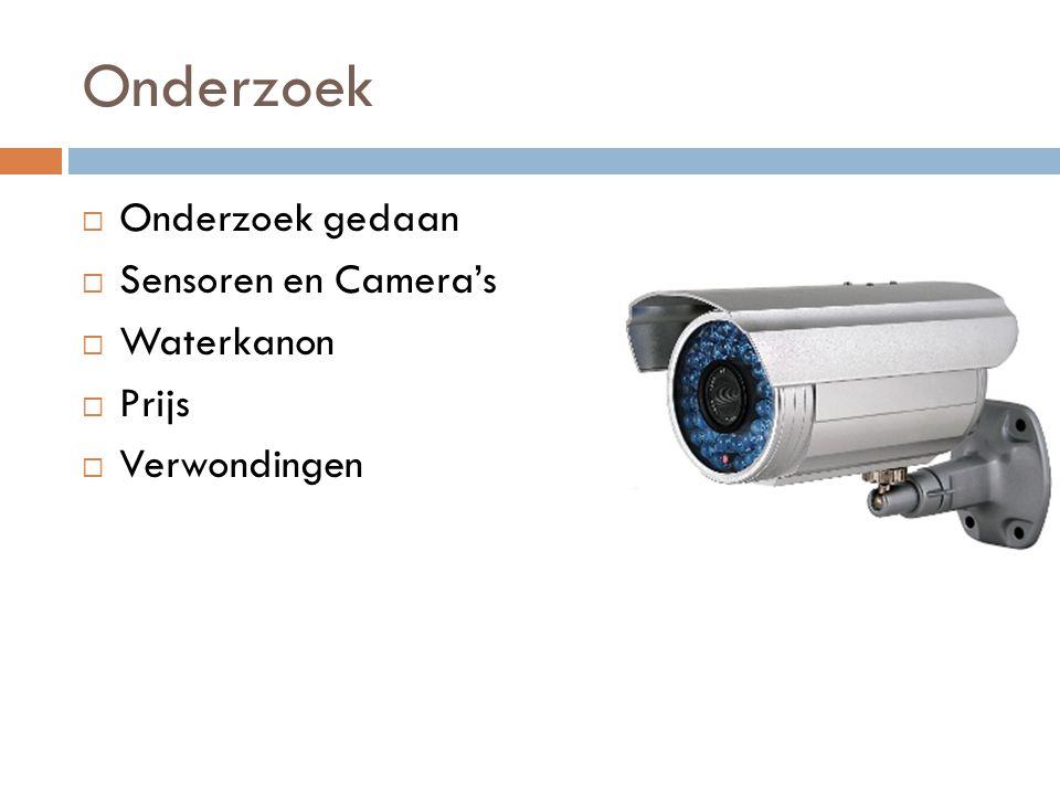 Onderzoek Onderzoek gedaan Sensoren en Camera's Waterkanon Prijs