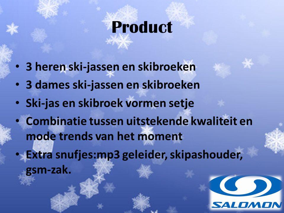 Product 3 heren ski-jassen en skibroeken
