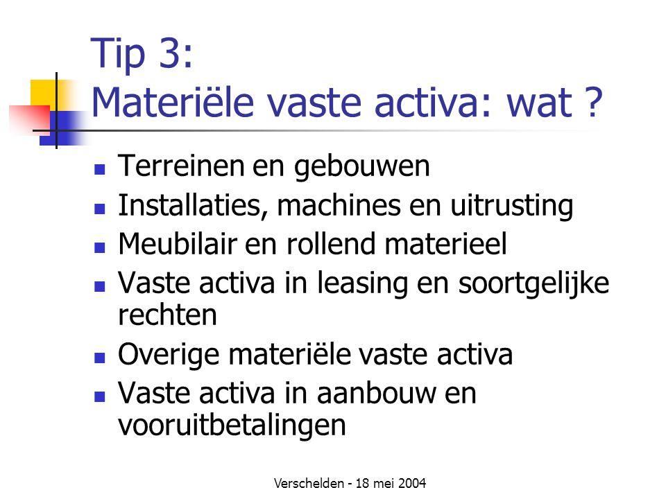 Tip 3: Materiële vaste activa: wat