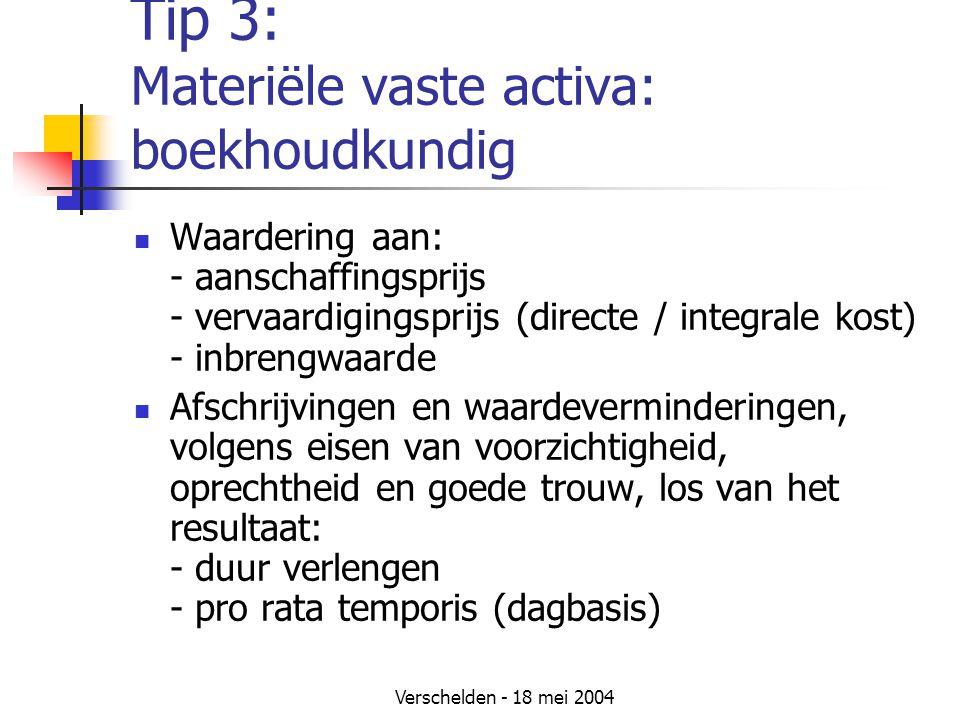 Tip 3: Materiële vaste activa: boekhoudkundig