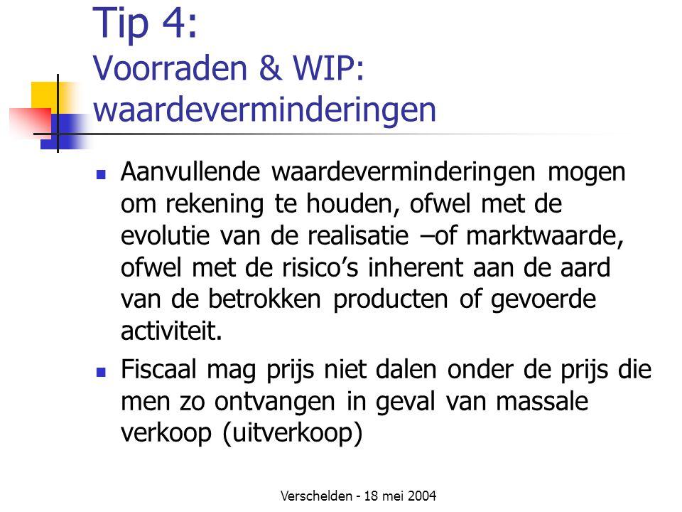 Tip 4: Voorraden & WIP: waardeverminderingen