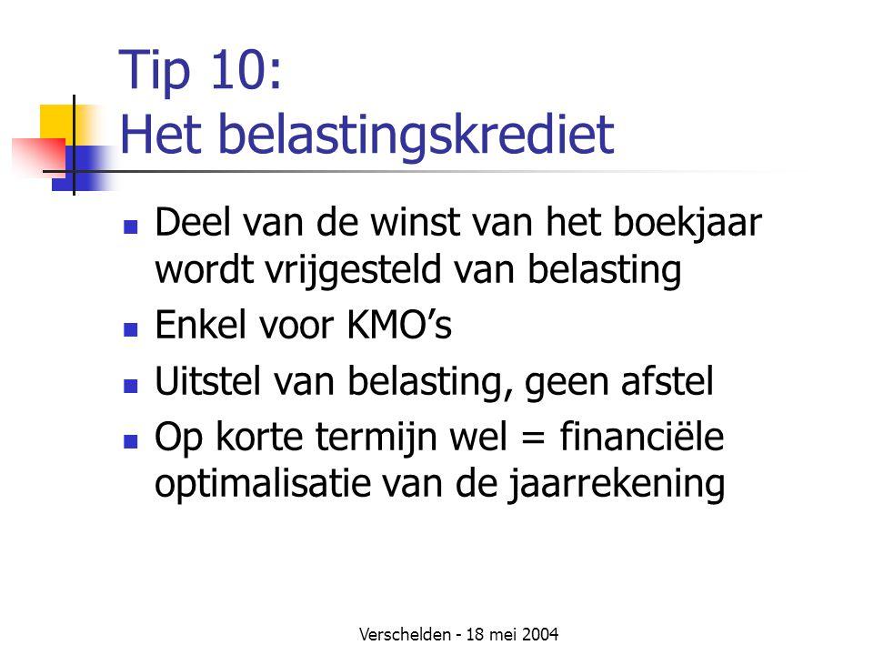 Tip 10: Het belastingskrediet