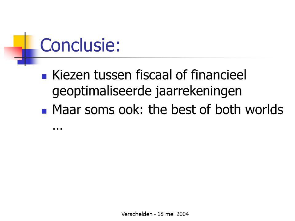 Conclusie: Kiezen tussen fiscaal of financieel geoptimaliseerde jaarrekeningen. Maar soms ook: the best of both worlds …