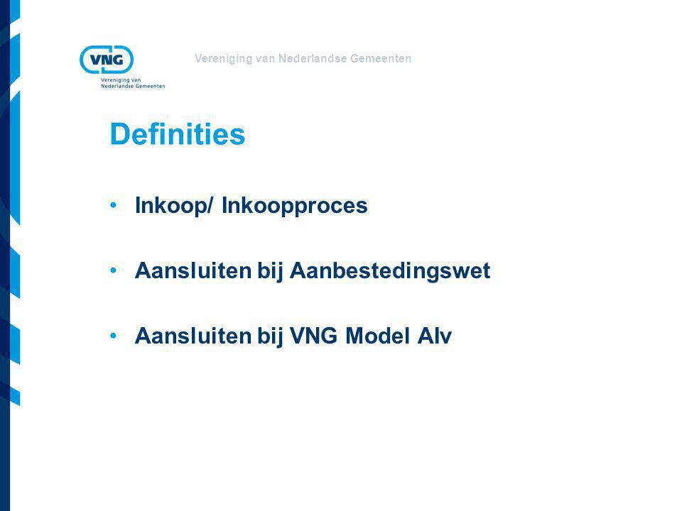 Definities Inkoop/ Inkoopproces Aansluiten bij Aanbestedingswet