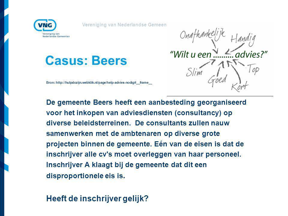 Casus: Beers Heeft de inschrijver gelijk