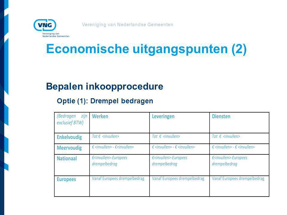 Economische uitgangspunten (2)