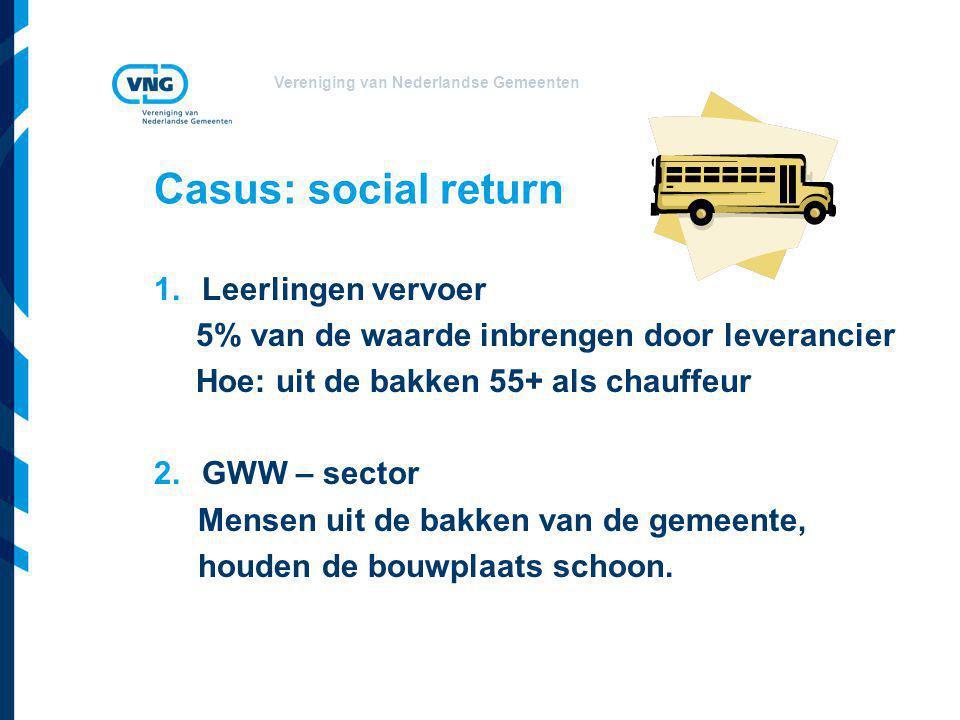 Casus: social return Leerlingen vervoer