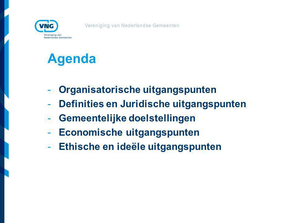 Agenda Organisatorische uitgangspunten