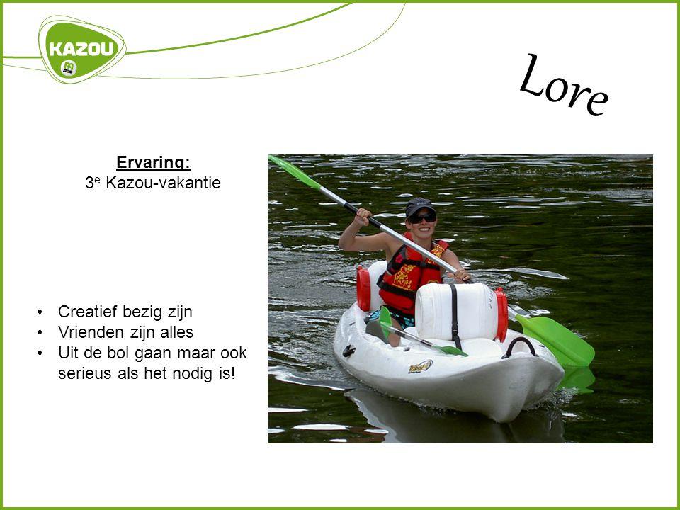 Lore Ervaring: 3e Kazou-vakantie Creatief bezig zijn