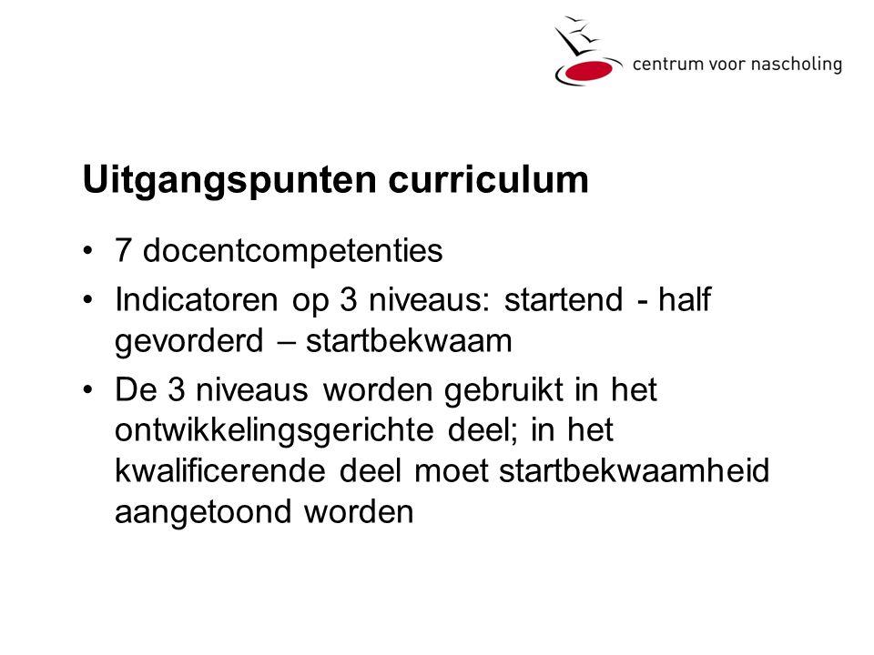 Uitgangspunten curriculum