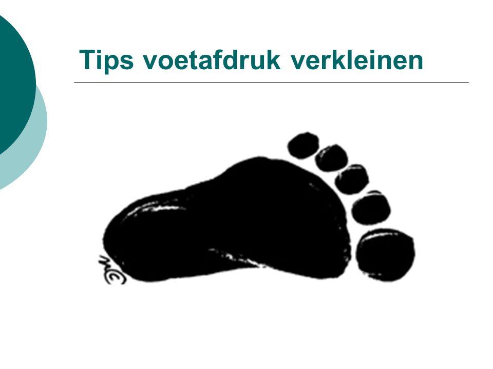 Tips voetafdruk verkleinen