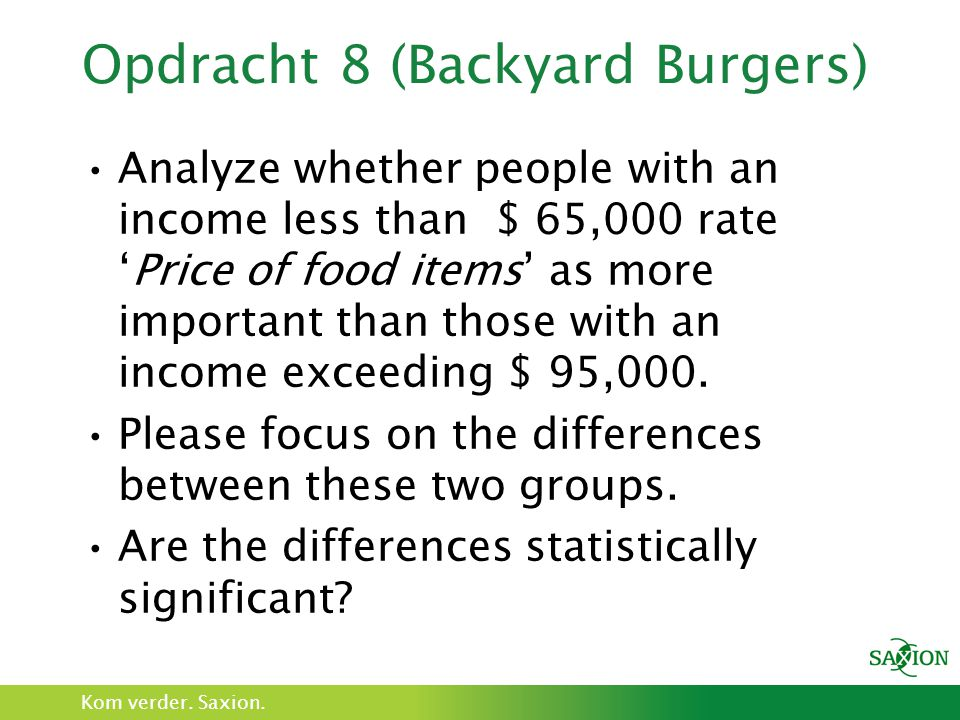 Opdracht 8 (Backyard Burgers)