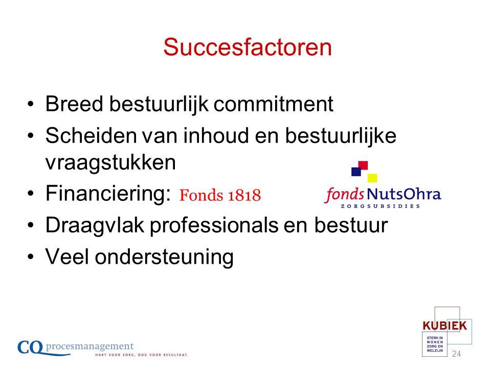 Succesfactoren Breed bestuurlijk commitment