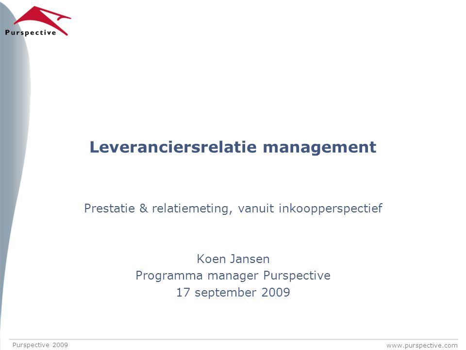 Leveranciersrelatie management
