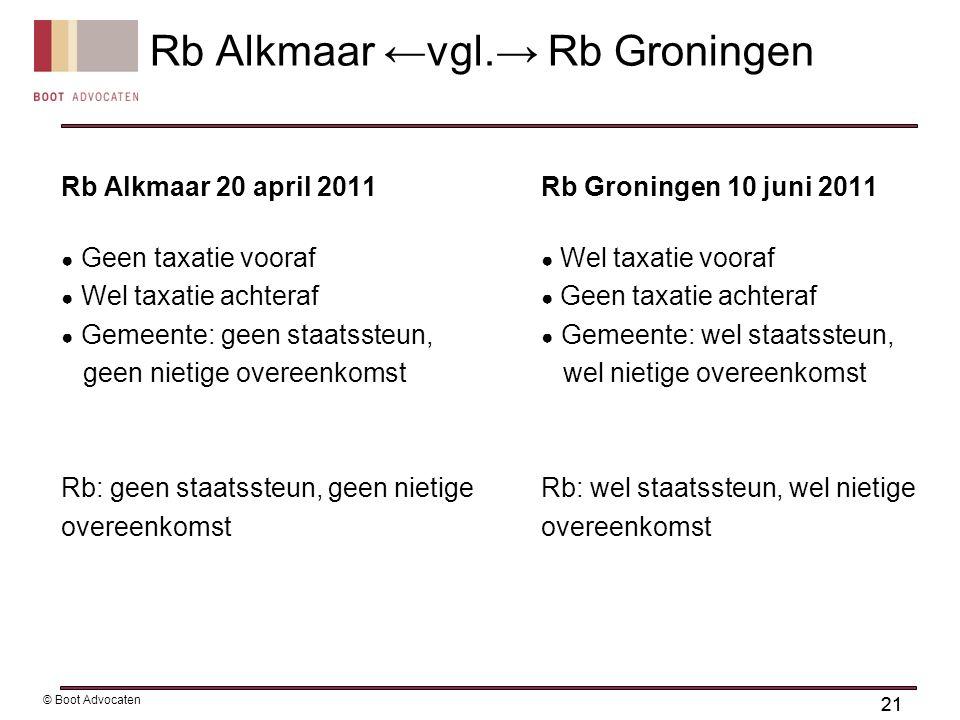 Rb Alkmaar ←vgl.→ Rb Groningen