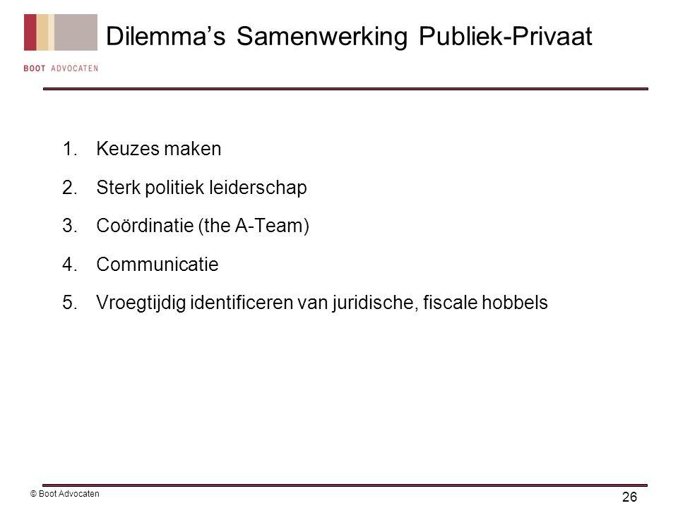 Dilemma's Samenwerking Publiek-Privaat